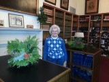 Nancy and Gayle were in charge of Courthouse library decor.
