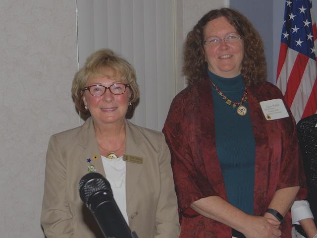 Director Lynn Walter and Pres Nicki Schwab