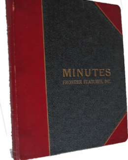 Minutes notebook