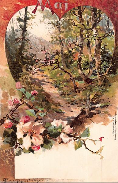 Early 20th c Calendar Art. Germany