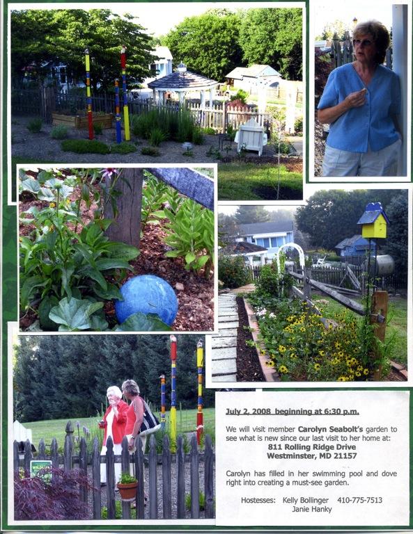 Cgc historian s book 2008 09 carroll garden club for Garden club book by blackbird designs